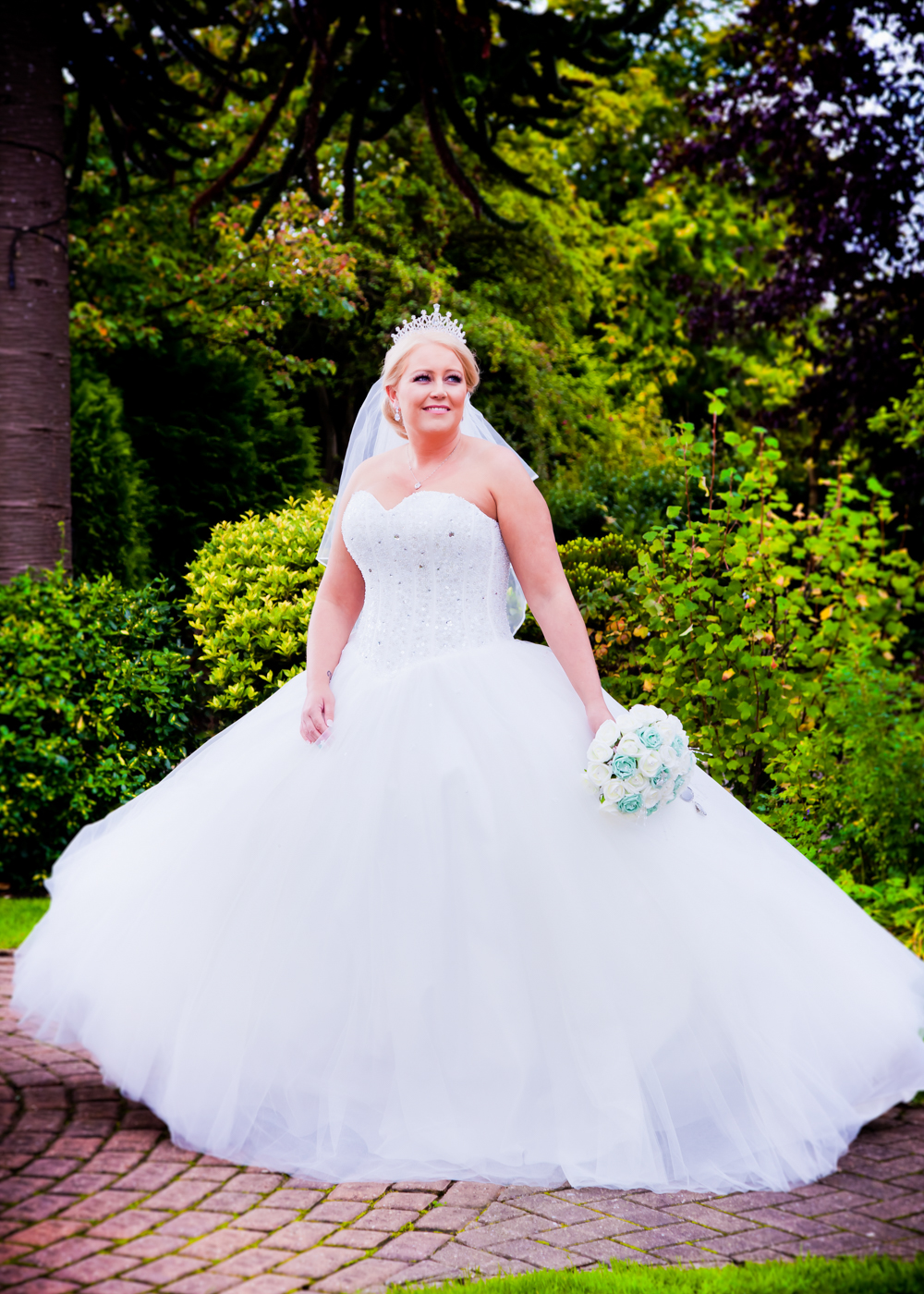 Bride at The Parkmore Hotel in Eaglescliffe