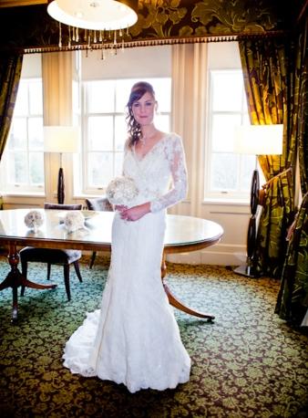 Bride pose Wedding Photography Crathorne Hall