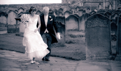 St. Mary's church wedding in Whitby