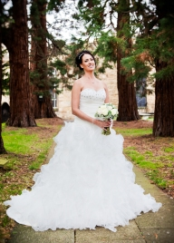 Wedding Bride poses