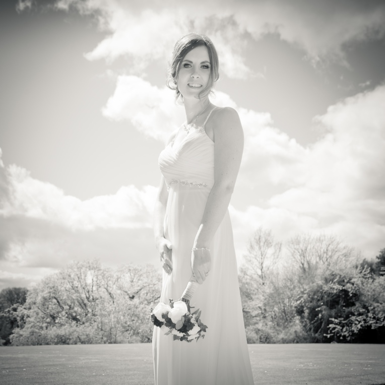 Wedding bride at Crathorne Hall
