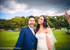 Bride & Groom pose for photographs in North Yorkshire